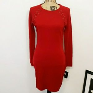 🔥NEW! IZ Byer Red Sweater Dress